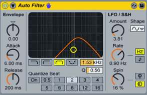 Плагин Auto Filter в Ableton Live