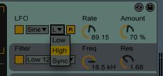LFO с этим параметром выводится в слышимый диапазон