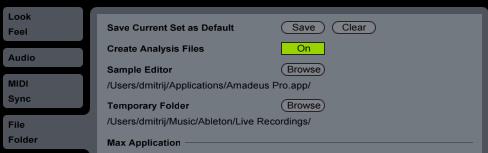 Create Analysis File