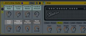 Значок дискеты для сохраненя Ableton Rack-эффектов доступен возле его названия