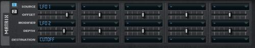 матрица модуляции в синтезаторе