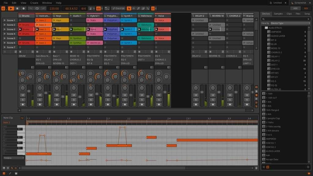 С помощью огибающих можно теперь позаботится о модуляции каждой отдельно взятой ноты. Те, кто знает как это делается в Ableton поймут, что это - сильно.