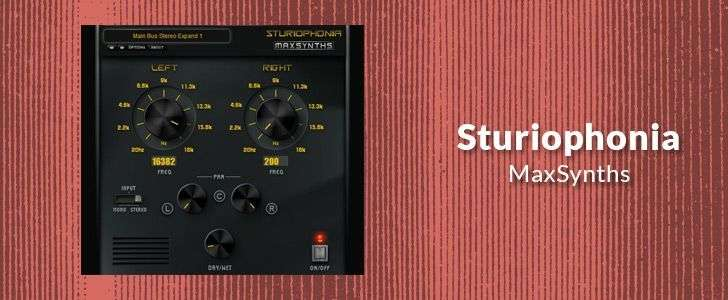Sturiophonia (free VST plug-in) by MaxSynths