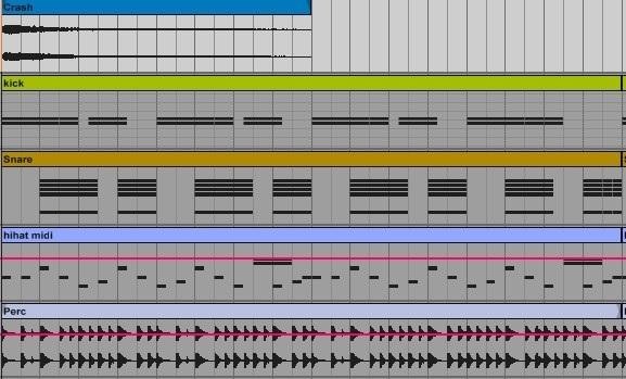 Ритм-секция, построенная в Ableton Live