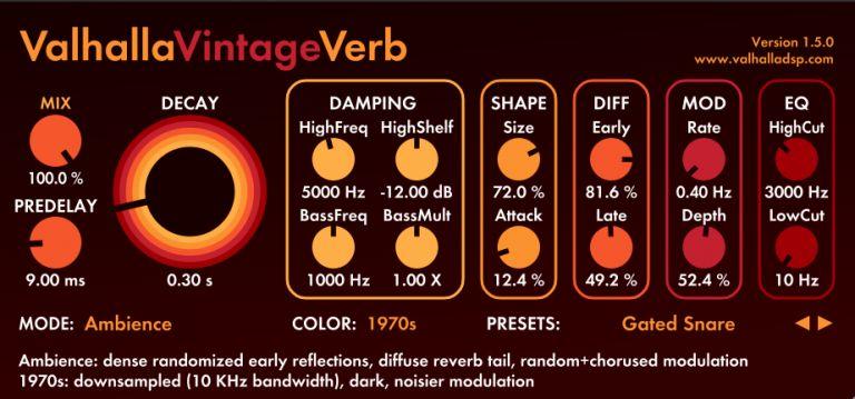 Valhalla Vintage Verb Fl Studio 12
